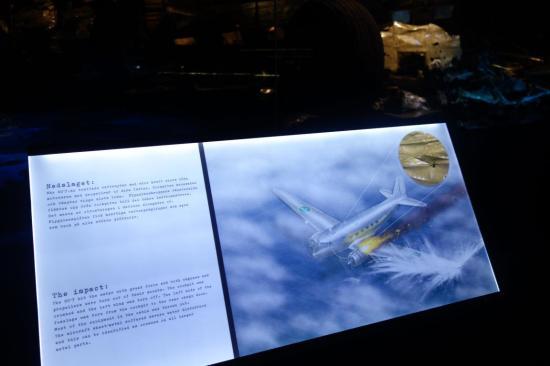 يشرح نظرية سقوط الطائرة حيث لم يجدوها الا في عام 2003