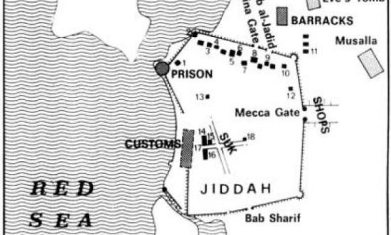 Map jeddah old